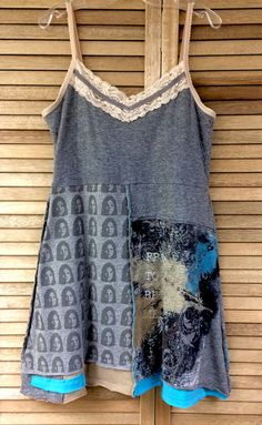 Romantic, shabby chic tunic/dress / boho dress / recycled clothing