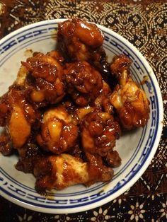 Kleverige kippenpootjes (honing. ketjap, hoisin, gember, 5-kruidenpoeder, knoflook) - Duizendenééndag