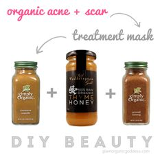 DIY Beauty | Organic Acne + Scar Treatment Mask - The Glamorganic Goddess