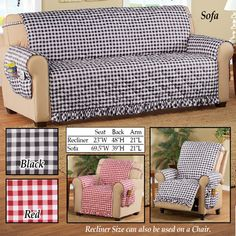 Collections Etc: Furniture Covers Diy Sofa Cover, Couch Covers, Sofa Seats, Couches, Slipcovers For Chairs, Cushions On Sofa, Recliner Cover, Diy Couch, Collections Etc
