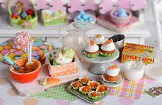 Miniature Easter Carrot Cake Cupcake and Cookie by CuteinMiniature