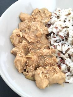 Poulet au beurre de cacahuète – Bien manger avec Lydie