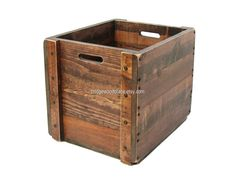 Large Wood Crate Wooden Box Tote Carryall Custom Sizes and Monogramming Available by BridgewoodPlace on Etsy
