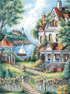 Gold Collection Cove Haven Inn Counted Cross Stitch Kit #35128 / Mfg:DIMENSIONS