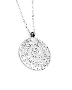 Silver Language of Love Necklace