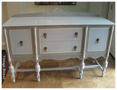 Vintage Breeze: Homemade Chalk Paint ~Gray & Blue Buffet~