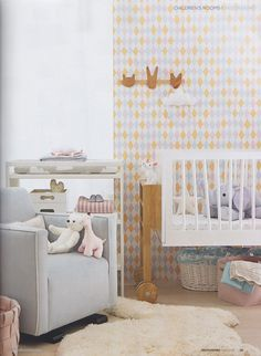 Lovely nursery colours and styling