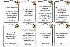 Juego los siete sacramentos.preguntas matrimonio 1 La samaritana, juegos de nueva evangelizacion