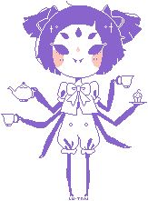 Muffet Pagedoll - Free to use - {ANIMATED] by Lu-tan.deviantart.com on @DeviantArt