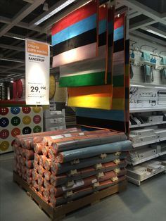 IKEA Alcorcon, Madrid, simple rug display