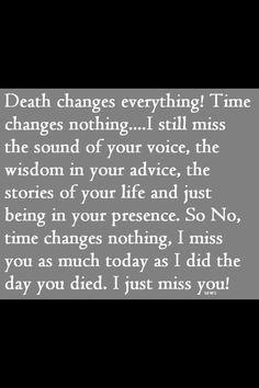 Death changes everythin