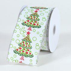 White – Christmas #Ribbon 2-1/2 Inch x 10 Yards   http://ribbons.cheap/product/white-christmas-ribbon-2-12-inch-x-10-yards-3/