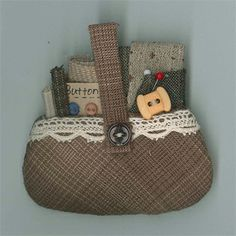 Shop | Category: Brooches | Product: Sewing Basket Brooch - B