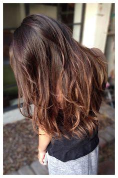 Subtle transitions. #brunette #balayage l Tumblr
