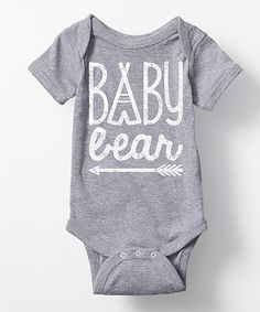 A family-focused message decorates this soft cotton-blend bodysuit with thoughtful sweetness. Its flexible lap neck and bottom snaps allow you to quickly change your little one.