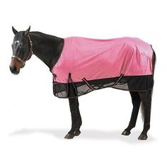 Fly Masks 167251: Centaur Super Fly Horse Sheet Ice Pink/Black Large Horse Size(78-82) -> BUY IT NOW ONLY: $59.95 on eBay!