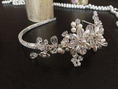 Pearl Wedding Headband Bridal Hair Accessories by alarastore