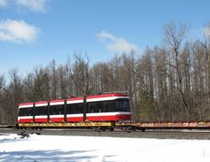 Open the floodgates. #2 of 204 new Toronto streetcars is en route.