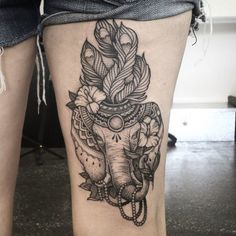 decorated indian elephant tattoo - Google Search