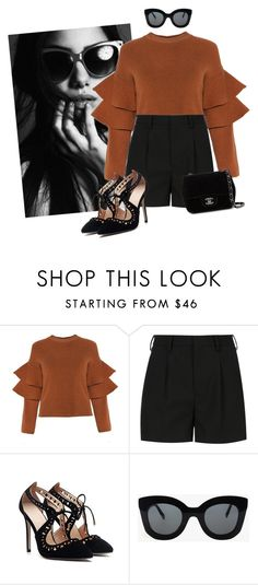 """""""Bronzed"""" by hella-glum-couture ❤ liked on Polyvore featuring Yves Saint Laurent, CÉLINE and Chanel"""