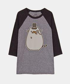 Size 2x pls and ty! Fancy Pusheen 3/4 sleeve raglan - Hey Chickadee