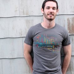 Dark City Ecology Infographic City Map Tshirt by babbletees, $15.00