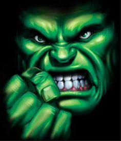 Incredible Hulk Makeup   Incredible Hulk - Big Face & Hand T-shirt
