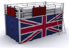 Berry Union Jack Curtain Metal Mid Sleeper Bunk Bed High Sleeper Bedroom England    Take  this Budget Offer. At Luxury Home Brands WE always Find Great Stuff for you :)
