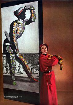 Dorian Leigh - Harper's Feb 1950.    Photo by Louise Dahl-Wolfe. S)