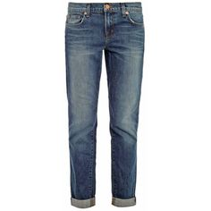 J Brand 1214 Aidan mid-rise boyfriend jeans (1,005 CNY) ❤ liked on Polyvore featuring jeans, pants, bottoms, pantalons, mid rise boyfriend jeans, boyfriend fit jeans, j brand boyfriend jeans, slim fit jeans and blue jeans