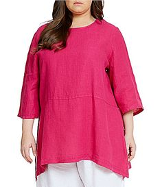 Bryn Walker Plus Bre Linen Tunic #Dillards