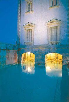 Swimming pool at Vizcaya Museum and Gardens near Miami, Florida.