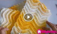 Ebruli İpten Su Dalgası Modeli Yapılışı Videolu Anlatım Knitting Videos, Knitting Stitches, Crochet For Kids, Diy Crochet, Crochet Designs, Crochet Patterns, Tunisian Crochet, Bargello, Fingerless Gloves