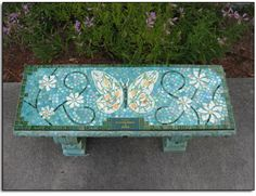 Super Garden Bench Mosaic Projects Ideas – Welcome My World