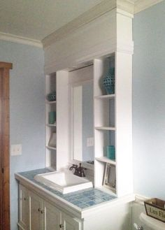 Vanity Hutch With Recessed Lights