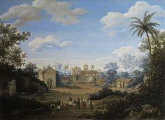 Kerk van St. Cosmas en St. Damian en het Franciscaans klooster in Igaraçu, Brazilië 1663c