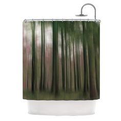 KESS InHouse Forest Blur Shower Curtain