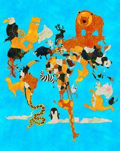 safari world map illustration Map Illustrations, Jungle Room, Boy Images, Safari Animals, User Profile, Bro, Baby Room, Cool Pictures, Digital Prints