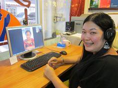 คุณเเพทจากกรุงเทพ เรียนภาษาอังกฤษออนไลน์กับครูเเจงผ่าน SKYPE  Kun Pat from Bangkok learn English online with kruu Jang  via SKYPE.