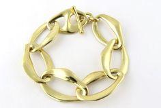 Tiffany & Co Elsa Peretti 18K Yellow Gold Aegaen Link Toggle Bracelet in Jewelry & Watches, Fine Jewelry, Fine Bracelets, Precious Metal without Stones | eBay