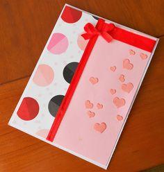 Red ribbon, circles and hearts