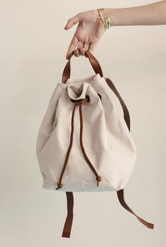 madewell small canvas drawstring backpack