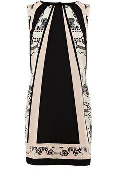 oasis Gatsby scarf stripe dress