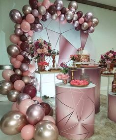 Balloon Decorations Party, Birthday Party Decorations, Wedding Decorations, Wedding Favors, Gold Birthday Party, 40th Birthday Parties, Instagram, Portal, Sweet Fifteen