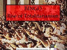 Bingo Rise of Totalitarianism Ap World History, Study History, High School Classroom, Classroom Fun, Teacher Resources, Teaching Ideas, Bingo Sheets, Social Studies Lesson Plans, High School Activities