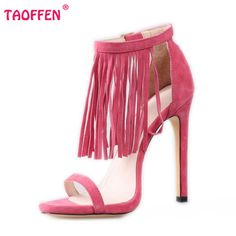 #New #Today http://www.reshopstore.com/products/fringe-and-tassel-high-heel-sandals in ReShop Store, #see it here http://www.reshopstore.com/products/fringe-and-tassel-high-heel-sandals