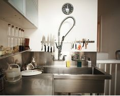 I want a restaurant sink in my kitchen.  Complete with sprayer.