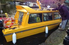 Waxi ahoy! Manchester water taxis finally set sail from Castlefield to Trafford Centre