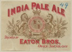 India Pale Ale by Thomas Fisher Rare Book Library, via Flickr