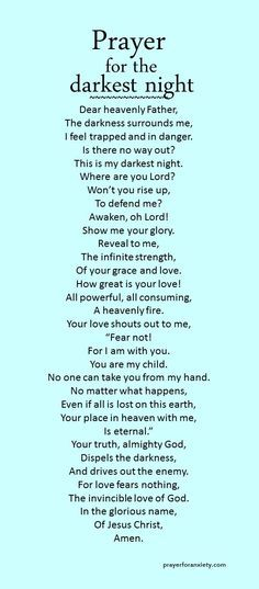 Prayer for the sick quotes awesome prayer for the darkest night quotes Prayer Times, Prayer Scriptures, Bible Prayers, Faith Prayer, God Prayer, Prayer Quotes, Power Of Prayer, Faith Quotes, Spiritual Quotes